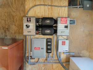 2-3600 Watt Outback Inverters with Charging System