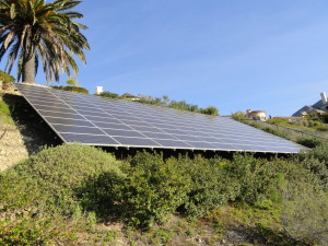 132 - 170watt Sharp Solar panels feeding an SMA Sunny Island system