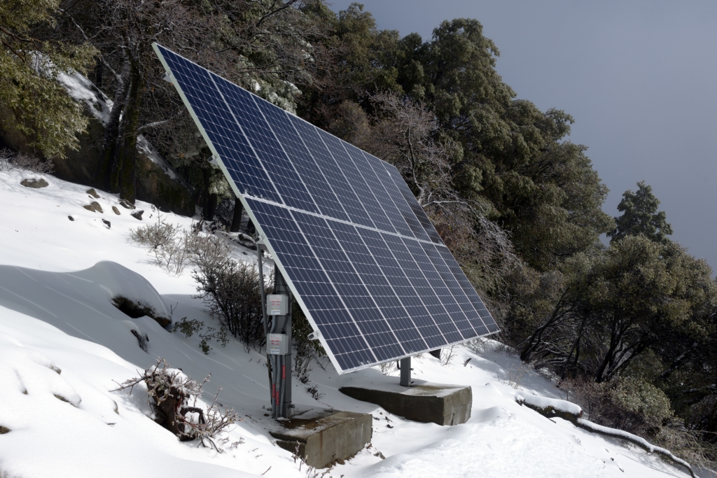 Solar Even Works In The Snow